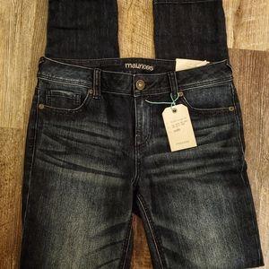 Maurcies skinny jeans sz 7/8 nwt